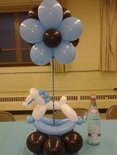 decoración con globos para baby shower35