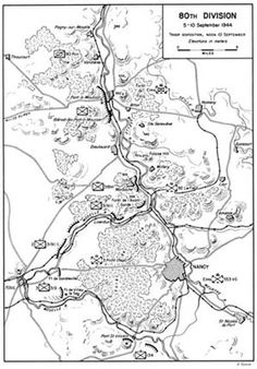 Map 2:  80th Division; 5-10 September 1944.