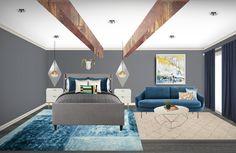 Christina Di Vito | Online Interior Design: Modern Rustic Glam Master Suite    E-Design | Online Interior Design | Virtual Interior Design | Interior Design | Modern Glam | Modern Rustic Online Interior Design Services, Modern Rustic, Master Suite, Service Design, Couch, Furniture, Home Decor, Homemade Home Decor, Sofa