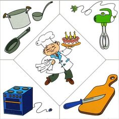 People occupations- a cook (printables! Preschool Jobs, Community Helpers Preschool, Preschool Education, Preschool Worksheets, Preschool Crafts, Kindergarten, Activities For 2 Year Olds, Kids Learning Activities, Infant Activities