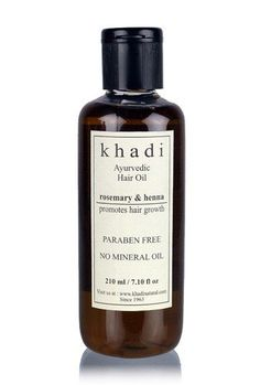 Khadi Henna Rosemarry and Henna Hair Oil - 210 ml >>> Click image for more details.