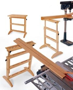 Shop Dog Collapsible Saw Horses With Attachments