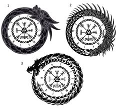 Having trouble deciding which of my designs I like best, Tattoo [Norse Mythology] - TattooDesigns Viking Rune Tattoo, Norse Tattoo, Viking Tattoo Design, Celtic Tattoos, Wiccan Tattoos, Indian Tattoos, Simbolos Tattoo, Ouroboros Tattoo, Body Art Tattoos