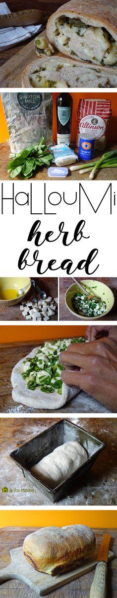 Halloumi herb bread   H is for Home #recipe #halloumi #realbread #baking
