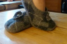 Felted+Wool+Slipper+Patterns | mom starting from scratch: Felted Wool Sweater Slippers