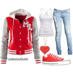 Sporty, created by saraaaabeth on Polyvore