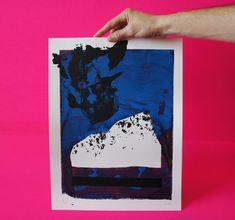 Carretera Stoner Impresión de pantalla tirada a mano. Papel Fabriano, Stoner, Screen Printing, Etsy, Unique, Prints, Initials, Impressionism, Parts Of The Mass