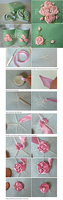 This is how I make roses for cards.  This is a good visual how-to.  The instructions are not in English.