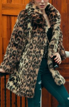 Buy Fur and Shearling Coats For Women from Sicily at Babyonlinewholesale. Online Shopping Brown Leopard Print Fluffy Fur and Shearling Coat, The Best Work Fur and Shearling Coats. Discover unique designers fashion at Babyonlinewholesale Leopard Fur Coat, Leopard Shirt, Brown Leopard, Cheetah Print Shirts, Leopard Jacket, Winter Fur Coats, Winter Coats Women, Long Fur Coat, Shearling Coat
