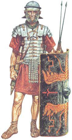 1st Century AD Roman Legionary, by Jeff Burn - (Imperial-Gallic helmet/segmented armor/Warfare in the Classical World/user: Aethon)