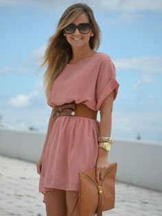 16 Ways to Wear the Pretty Little Pink Dress Trends - Stylos & Moda - Mode Outfits, Fashion Outfits, Womens Fashion, Dress Fashion, Fashion Ideas, Fashion Styles, Fashion Clothes, Fashion Trends, Cute Dresses