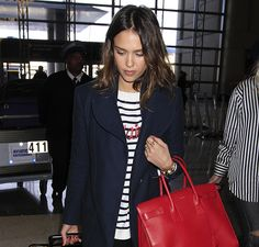 Jessica Alba and Saint Laurent Sac de Jour Bag