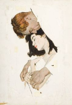 American painter and illustrator Joe Bowler was born in Forest Hills, New York. Joe began to draw when he was three. His first illustration for a national magazine was published by Cosmopolitan… Illustration Inspiration, Portrait Illustration, Portraits Illustrés, Portrait Paintings, Art Amour, Art Vintage, Vintage Paintings, Wow Art, Art Inspo