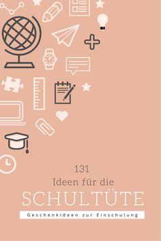 Kleine Geschenkideen zur Einschulung // 131 Ideen für die Schultüte