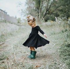 Dancing in a black dress.  #dress #blackdress #dance #dancing #girl #kids #kid #child #wild #blond #kidsfashion #fashion #style
