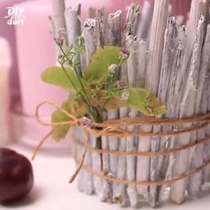 DIY CANDLE HOLDER : This candle holder is simply the best choice for your desk decoration😍! By: This candle holder is simply the best choice for your desk decoration😍! By: This candle holder is simply the best choice for your desk decoration😍! Modern Candle Holders, Diy Candle Holders, Diy Candles, Scented Candles, Making Candles, Beeswax Candles, Garden Terrarium, Indoor Planters, Diy Desk