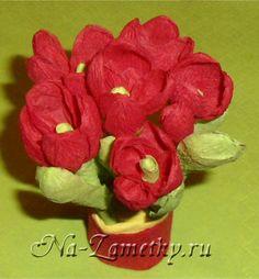 Цветы из салфеток своими руками | СВОИМИ РУКАМИ