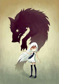 Werewolf Art Print by Freeminds - beautiful artwork Art And Illustration, People Illustration, Food Illustrations, Werewolf Girl, Demon Girl, Dibujos Cute, Wow Art, Dark Art, Amazing Art