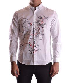 MCQ BY ALEXANDER MCQUEEN Mcq Alexander Mcqueen Men S 331315Rep059093 White  Cotton Shirt .  mcqbyalexandermcqueen  cloth  dress shirts 9d37e05dbf53