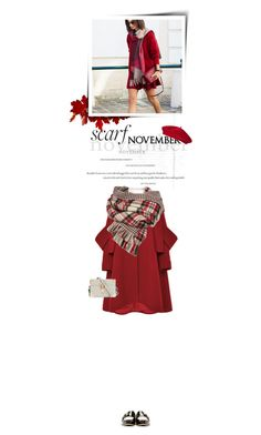 """""""It's a Wrap! Fun Fall Scarves"""" by cultofsharon ❤ liked on Polyvore featuring Delpozo, Jimmy Choo, Reiss and vintage"""