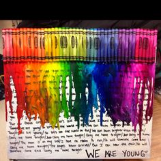 My melted crayon art project :)