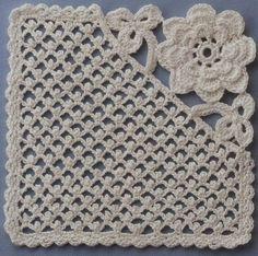 [22. 사각모티브뜨기] 꽃처럼 예쁜 코바늘 사각모티브뜨기