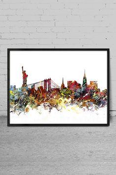 Art in New York New York Skyline New York Malerei von MyVisualArt