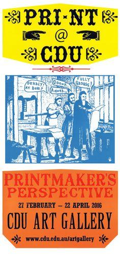 Letterpress, Woodtype, Monotype, Franck Gohier - Red Hand Prints