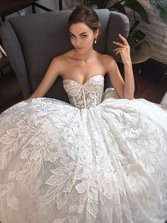 "The Alon Livne White strapless ""Camille"" lace wedding dress. The Alon Livne White strapless ""Camille"" lace wedding dress. White Wedding Gowns, Princess Wedding Dresses, Dream Wedding Dresses, Bridal Dresses, Wedding Dress Corset, Dress Lace, Lace Bodice, Modest Wedding, Gown Wedding"