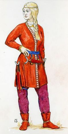 Sarmatian female warrior