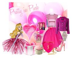 """""""Pretty in PINK"""" by velvy on Polyvore featuring Disney, Puck Wanderlust, Juicy Couture, Yves Saint Laurent, Chanel, ALDO, Estée Lauder, Rolex, polyversary and contestentry"""