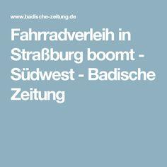Fahrradverleih in Straßburg boomt - Südwest - Badische Zeitung