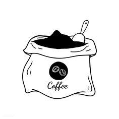 coffee cartoon Sack of coffee beans icon vector Coffee Bean Candle, Coffee Bean Art, Coffee Bean Sacks, Coffee Cup Art, Coffee Beans, Doodle Art, Coffee Doodle, Coffee Cartoon, Minimal Drawings
