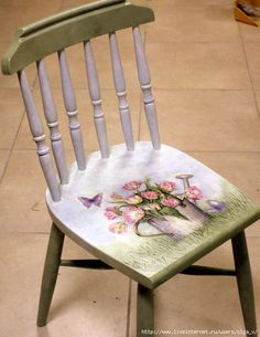 Adorable Little Chair--Decoupage Seat