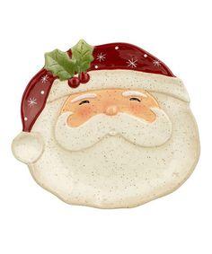 Look what I found on #zulily! Santa Tidbit Plate #zulilyfinds