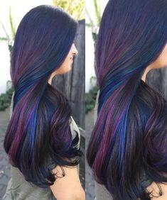 50 colorful rainbow hair color ideas 14 - All For New Hairstyles Coloured Hair, Cool Hair Color, Oil Slick Hair Color, Mermaid Hair, Mermaid Makeup, Rainbow Hair, Rainbow Braids, Hair Highlights, Coloured Highlights