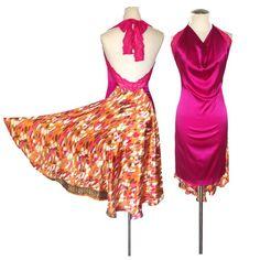 Nota: questo è un vestito di uno-di-un-tipo. È pronto per la spedizione. Se avete bisogno reso più piccolo, non esitate a contattarci--  Lusso di seta e pizzo elasticizzato morbido rendono questo capestro backless abito perfetto per il ballo. Amerete il tatto e il flusso di questo vestito di Open Back Dresses, Formal Dresses, Tango Dress, Argentine Tango, High Low Skirt, Pink Silk, Backless, Stretch Lace, Dance Dresses