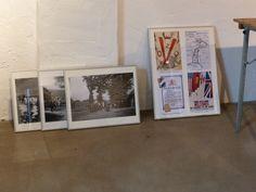 Er zijn diverse mooie foto's en pamfletten te zien.
