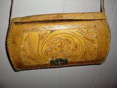 Vintage Hand Tooled Floral Cowgirl Leather Shoulder Bag Western Purse Women'S | eBay