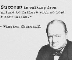 Succes gaat samen met falen Winston Churchill, Success, Seeds