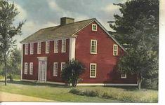 Old Postcard of the Salt Box House Old Sturbridge Village. ~♥~