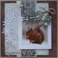 Cute idea for a Christmas card. Chrismas Cards, Create Christmas Cards, Christmas Card Crafts, Christmas Tag, Xmas, Christmas Crackers, Marianne Design, Winter Cards, Diy Cards