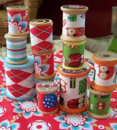 S.W.A.P. idea: Fabric Covered Spools