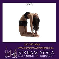 Bikram's Camel Pose #BikramYogaRiverNorth #BikramYoga #YogaPoses #BikramYoga26Postures #CamelPose Bikram Yoga Poses, North Chicago, Body Parts, Camel, Parts Of The Body, Camels, Bactrian Camel
