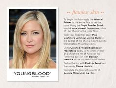 Get the look with our Youngblood products -   It has a satin finish and a sheer to medium coverage, to give skin an even appearance without the look of makeup.  Even better, it is vegan, gluten free, and cruelty-free! come in and get your makeup done or purchase your youngblood products with us. (919)213-1772