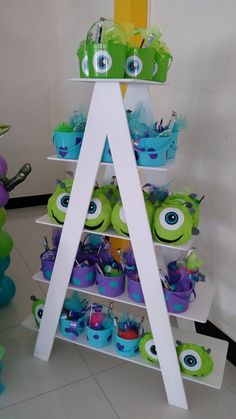 Monster Inc Boo Party - Monster University Birthday, Monster 1st Birthdays, Monster Inc Party, Monster Birthday Parties, First Birthday Parties, Birthday Party Decorations, First Birthdays, 2nd Birthday, Halloween Decorations