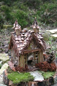 fairy garden crafts   cute little fairy house for the garden   Curiosities By Dickens