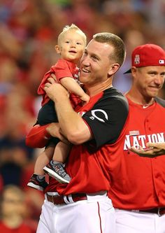 What better way to celebrate winning the HR Derby than with those that mean the most to you?