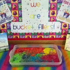Bucket fillers in preschool
