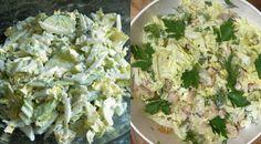 Этот салат занял почетное место в моем праздничном меню. Попробовав, ты поймешь причину! Пекинская капуста, куриное филе, яйца, зеленый лук, огурцы.